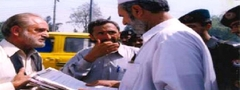President SAFI presenting a resolution on Forest ordinance 2002 to Minister Forests, KPK